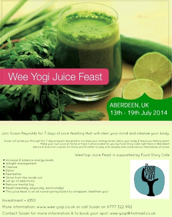 Juice Feast Poster July 2014